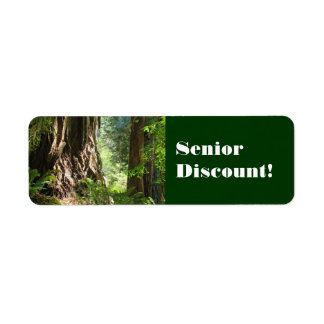 Senior Discount! labels stickers Old Redwoods