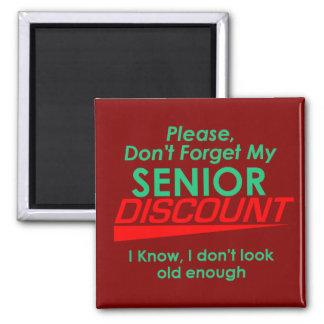 SENIOR DISCOUNT Magnet