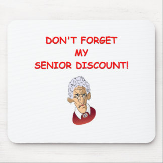 senior discount mouse pad