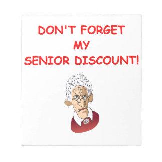 senior discount scratch pads