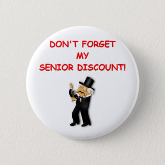 senior discount pinback button