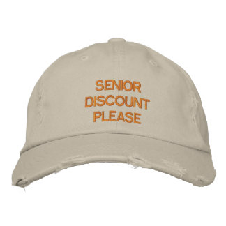 SENIOR DISCOUNT PLEASE - Customizable Cap