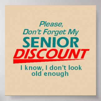 Senior Discount Poster