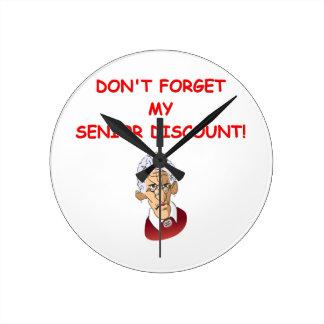 senior discount round wall clock