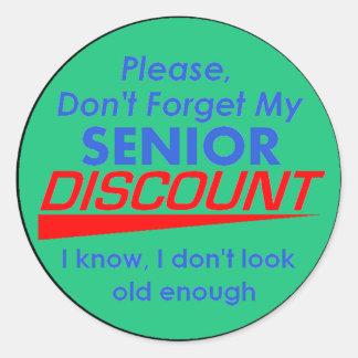 SENIOR DISCOUNT Sticker
