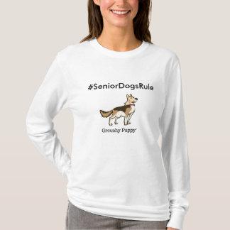 Senior Dogs Rule Long Sleeve Shirt