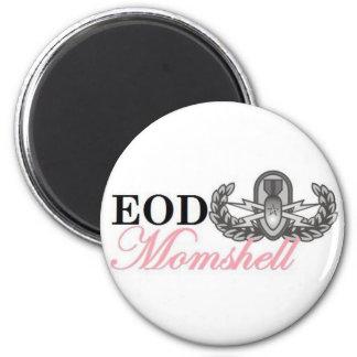 Senior eod badge momshell magnet