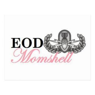 Senior eod badge momshell postcard