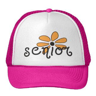 Senior Flower Power Mesh Hats