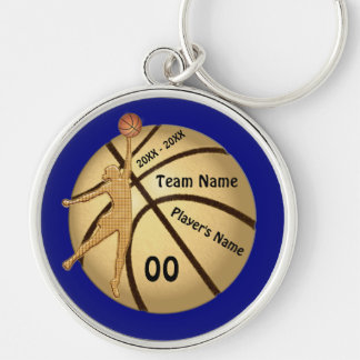 Senior Gift Ideas for Basketball Your TEXT, COLORS Keychain