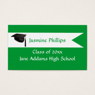Senior Green Name Card