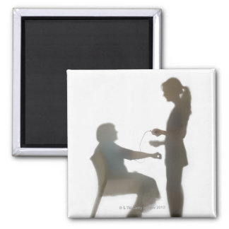 Senior health check / blood pressure reading 2 inch square magnet