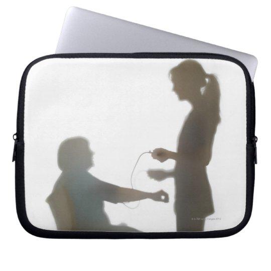 Senior health check / blood pressure reading computer sleeve
