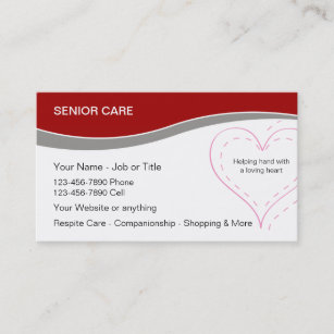 Senior Home Care Business Cards