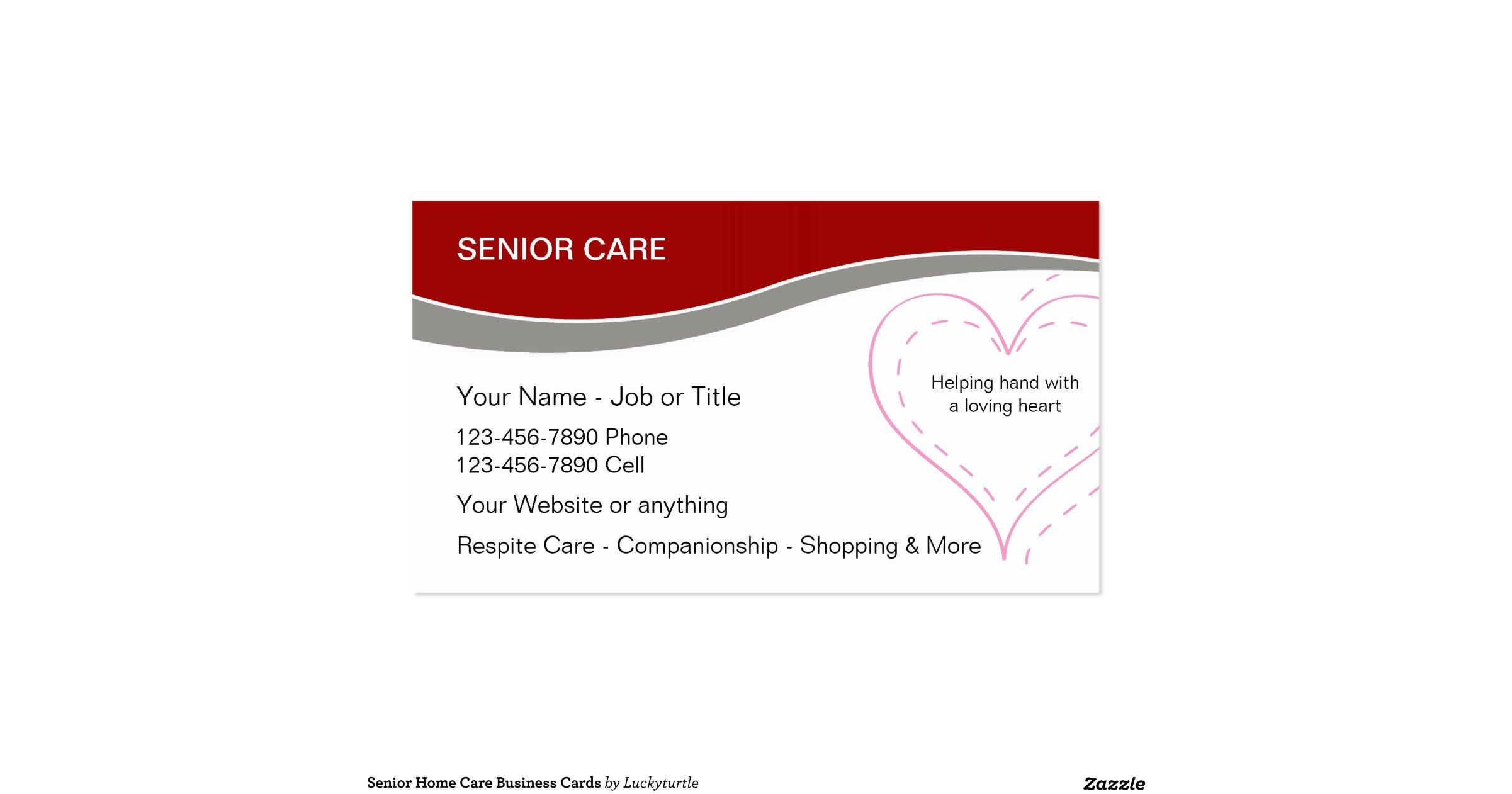Senior Home Care Business Cards R212998c584224722b0f7a8dc5556e106 I579t 8byvr