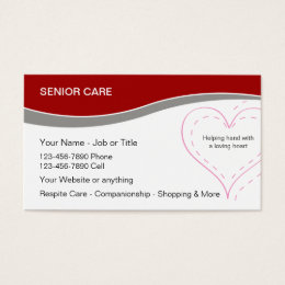 Healthcare business cards templates zazzle senior home care business cards colourmoves Images