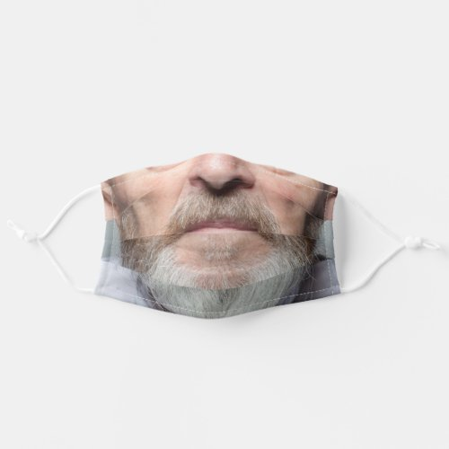 senior man face cloth face mask