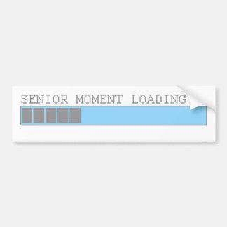 Senior moment loading funny retired elderly humor car bumper sticker