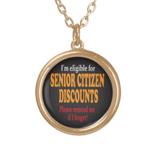 Senior Moment Necklace Round Pendant Necklace
