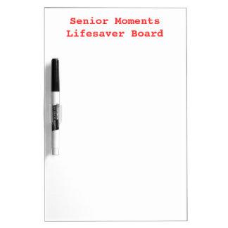 SENIOR MOMENTS LIFESAVER Old Folks Memory Dry-Erase Board