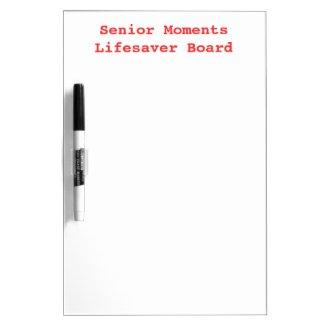 SENIOR MOMENTS LIFESAVER Old Folks Memory Dry-Erase Whiteboards