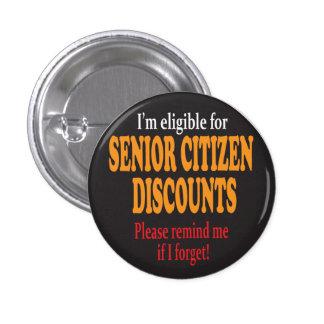 Senior Moments   Milestone Birthday 1 Inch Round Button