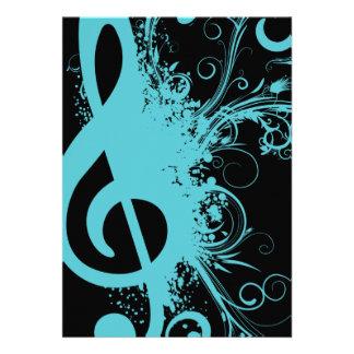 Senior Music Recital Custom Invites