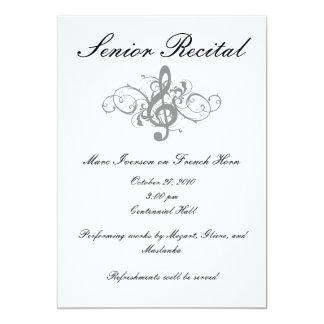 Senior Music Recital Custom Invite