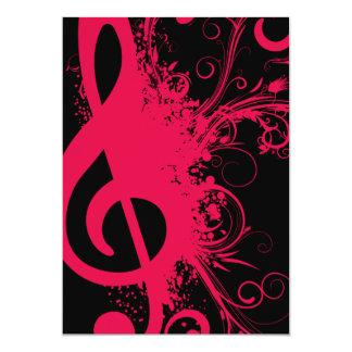 Senior Music Recital Personalized Announcement
