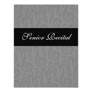 Senior Music Recital Invitation