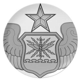 SENIOR NAVIGATOR WINGS MELAMINE PLATE