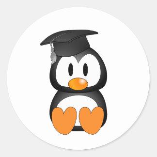 Senior Penguin Round Sticker