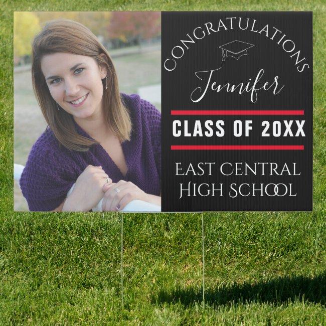 Senior Photo | Large Graduation Yard Sign