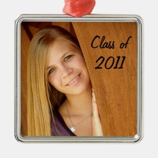 Senior photo ornament
