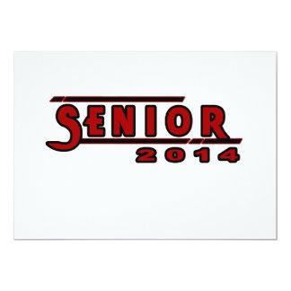 Senior Red Graduation Invitation