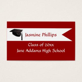 Senior Red Name Card