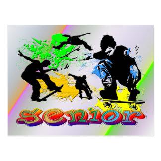 Senior - Skateboarding Postcard