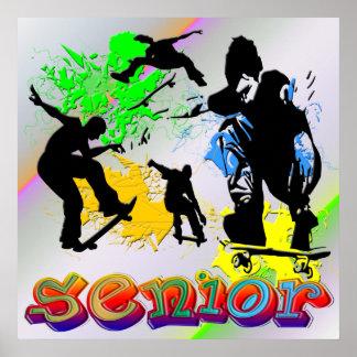 Senior - Skateboarding Poster
