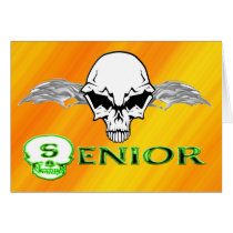 Senior - Skull Wings Card