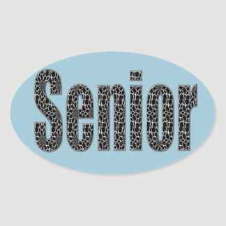 Senior Stickers with Your Choice Color Background
