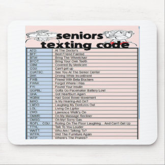 Senior Texting Code Mouse Pad
