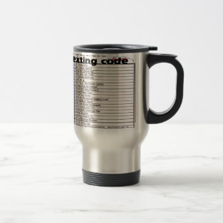 Senior Texting Code Travel Mug