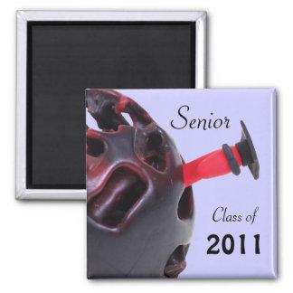 Senior Werm 2 Inch Square Magnet