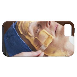 Senior woman having facial cream applied iPhone SE/5/5s case