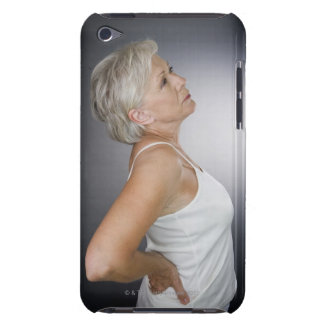 Senior woman with backache iPod touch case