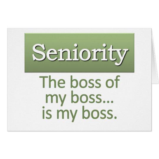 Seniority Definition Card