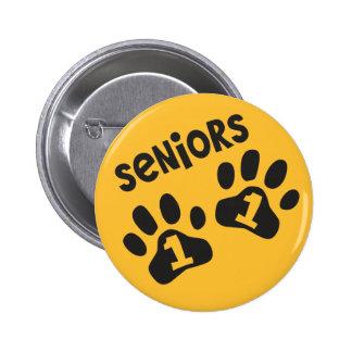 Seniors '11 Paw Prints - Black and Gold Pins
