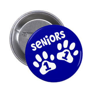 Seniors '11 Paw Prints - Blue Pins