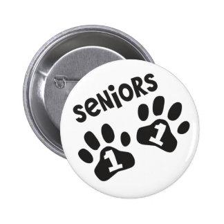 Seniors '11 Paw Prints Pinback Button