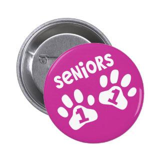 Seniors '11 Paw Prints Button